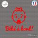 Sticker Bebe a bord visage fille sticks-em.fr