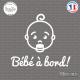 Sticker Bebe a bord visage garcon sticks-em.fr
