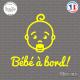 Sticker Bebe a bord visage garcon Sticks-em.fr Couleurs au choix