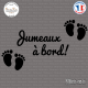 Sticker Jumeaux a bord sticks-em.fr