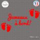 Sticker Jumeaux a bord Sticks-em.fr Couleurs au choix