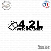 Sticker JDM 4,2l Wischwasser