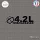 Sticker JDM 4,2l Wischwasser Sticks-em.fr Couleurs au choix