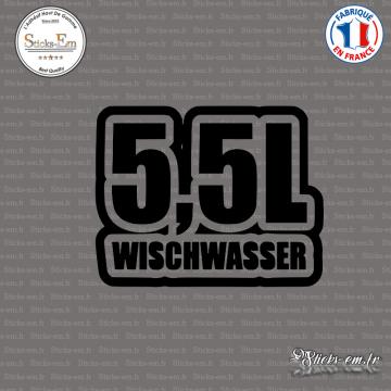 Sticker JDM 5,5l Wischwasser