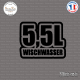 Sticker JDM 5,5l Wischwasser Sticks-em.fr Couleurs au choix
