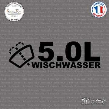 Sticker JDM 5,0l Wischwasser