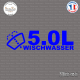 Sticker JDM 5,0l Wischwasser Sticks-em.fr Couleurs au choix
