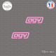 2 Stickers AGV Sticks-em.fr Couleurs au choix