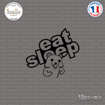 Sticker Eat Sleep Pedobear