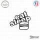 Sticker JDM Eat Sleep Seat