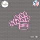 Sticker JDM Eat Sleep Seat Sticks-em.fr Couleurs au choix