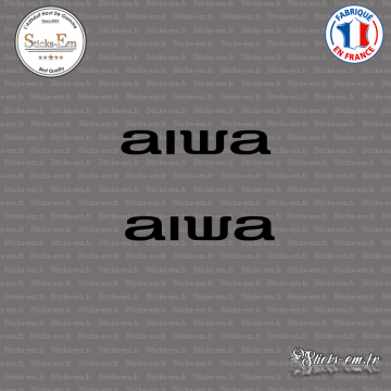 2 Stickers Aiwa