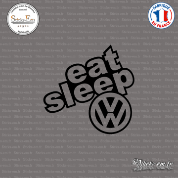 Sticker JDM Eat Sleep Volkswagen
