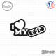 Sticker JDM I Love My Audi Sticks-em.fr Couleurs au choix