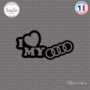 Sticker JDM I Love My Audi