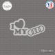Sticker JDM I Love My Audi sticks-em.fr