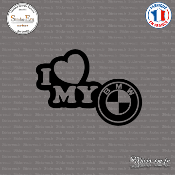 Sticker JDM I Love My Bmw