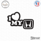 Sticker JDM I Love My Honda Sticks-em.fr Couleurs au choix