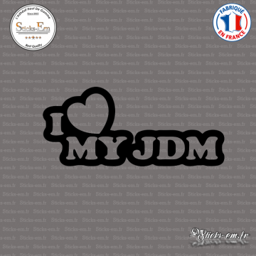 Sticker JDM I Love My Jdm
