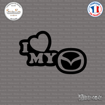 Sticker JDM I Love My Mazda