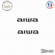 2 Stickers Aiwa Sticks-em.fr Couleurs au choix