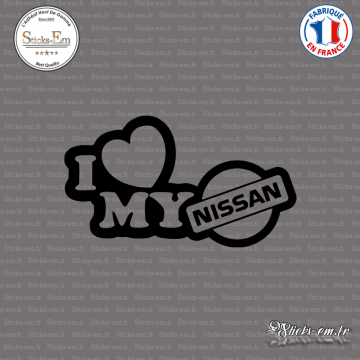 Sticker JDM I Love My Nissan