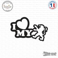 Sticker JDM I Love My Peugeot