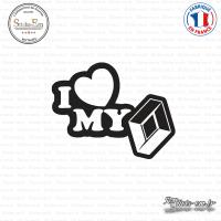 Sticker JDM I Love My Renault