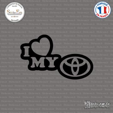 Sticker JDM I Love My Toyota