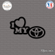 Sticker JDM I Love My Toyota Sticks-em.fr Couleurs au choix