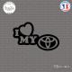 Sticker JDM I Love My Toyota sticks-em.fr