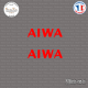 2 Stickers Aiwa Logo sticks-em.fr