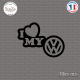Sticker JDM I Love My Volkswagen Sticks-em.fr Couleurs au choix