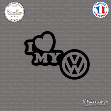 Sticker JDM I Love My Volkswagen