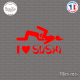 Sticker JDM I Love Sushi sticks-em.fr