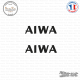 2 Stickers Aiwa Logo