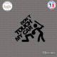 Sticker JDM don't touch my car Sticks-em.fr Couleurs au choix