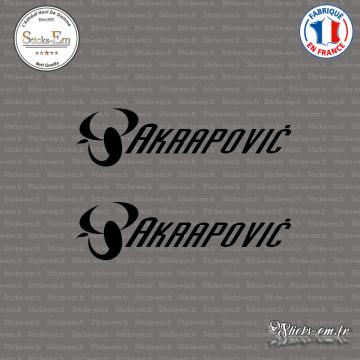 2 Stickers Akrapovic italiques