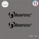 2 Stickers Akrapovic italiques Sticks-em.fr Couleurs au choix