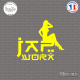 Sticker JDM Jap Worx Sticks-em.fr Couleurs au choix