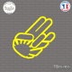 Sticker JDM Hand sunshine Sticks-em.fr Couleurs au choix