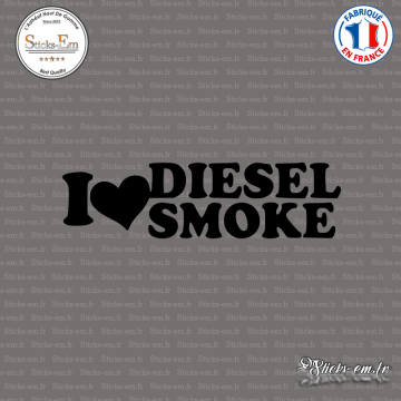 Sticker JDM I love Diesel smoke