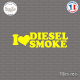 Sticker JDM I love Diesel smoke Sticks-em.fr Couleurs au choix