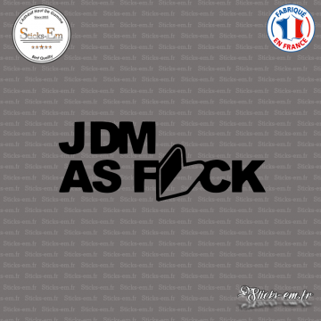 Sticker JDM as fuck