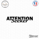 Sticker JDM Attention Seeker Sticks-em.fr Couleurs au choix