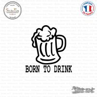 Sticker JDM Born To Drink