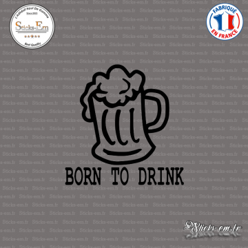 Sticker JDM Born To Drink