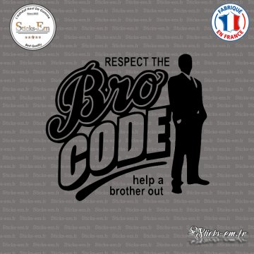 Sticker JDM Bro Code
