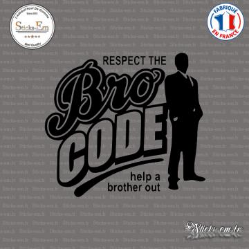 Sticker JDM Bro Code