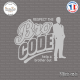 Sticker JDM Bro Code Sticks-em.fr Couleurs au choix